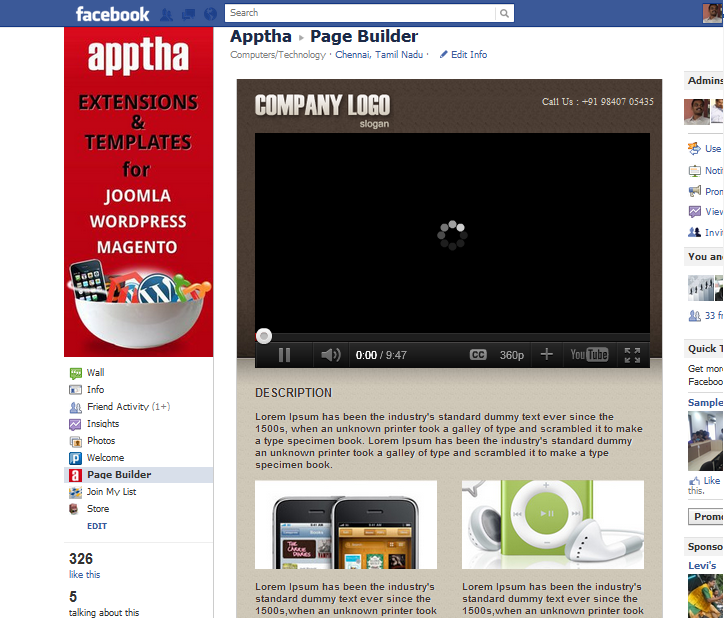 Apptha Facebook Page