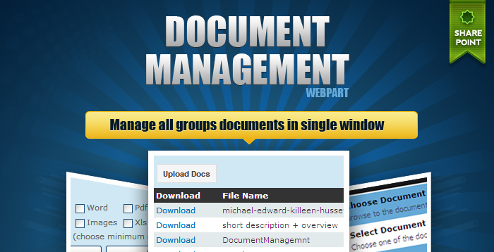 sharepoint document  management web part