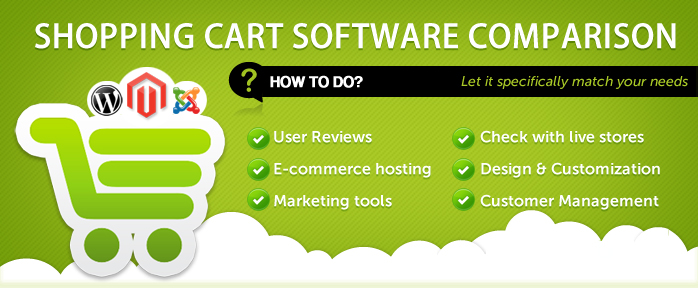 Shopping cart software comparison - How to do? | apptha