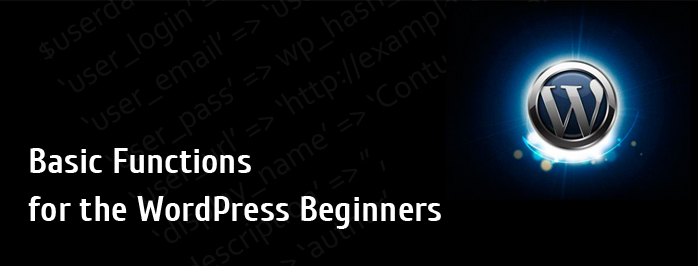 Basic Wordpress Functions