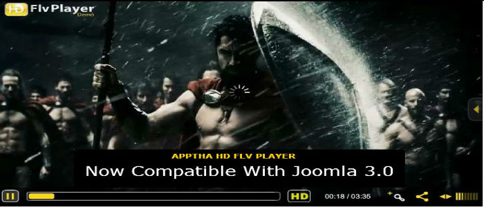Joomla 3.0 HD FLV Player