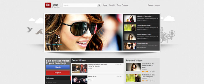 Why To Create A Videosharing Website With Joomla Video Template - Create web page template