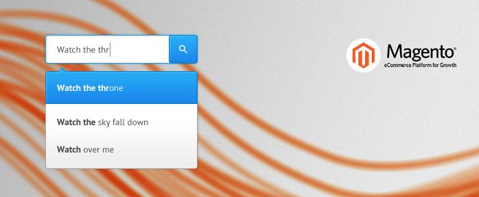 magento search auto complete extension