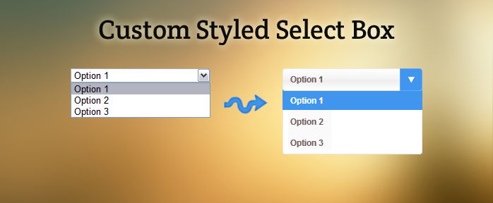 How to create custom select box