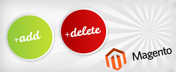 magento add/delete custom option