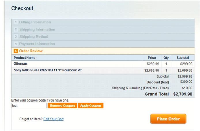 Add Discount Coupon In Magento One Page Checkout With And Without
