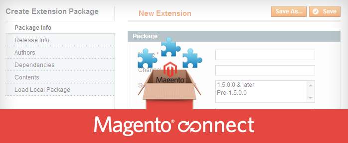 Create Magento Extension package file