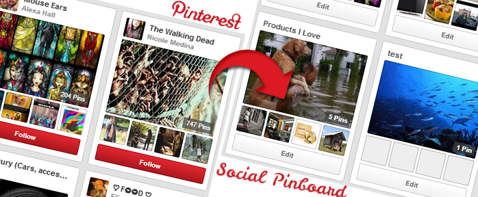 Pinterest like website