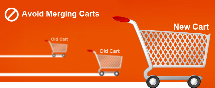 avoid old merging carts