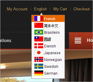 Multilingual Booking Options