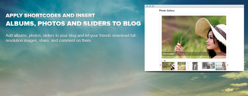 WordPress Slider Gallery - WordPress Image Gallery Slider Plugin